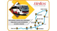 Ao completar 71 anos, a Helios entrega aos seus usuários mais um lote de carros novos. São carroceirias Comil Campione 3.45 (equipados com poltronas soft, ar condicionado, calefação, sanitário ecológico motores menos poluentes) para rodar nas linhas intermunicipais da região de Carazinho/RS. Com esse investimento, todas as linhas regulares da empresa passam a contar com ônibus equipados com ar condicionado, garantindo conforto aos nosso usuários